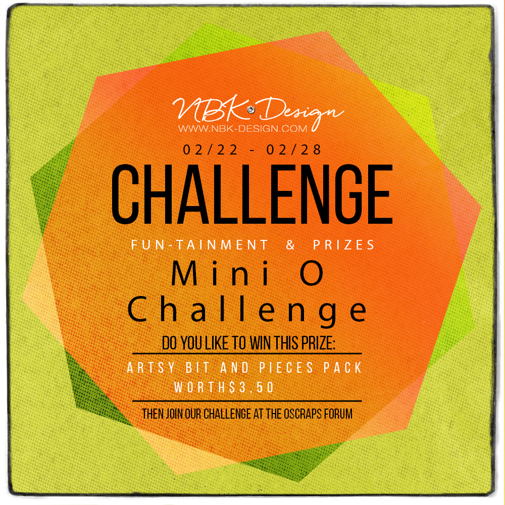 New Challenge is up at Oscraps