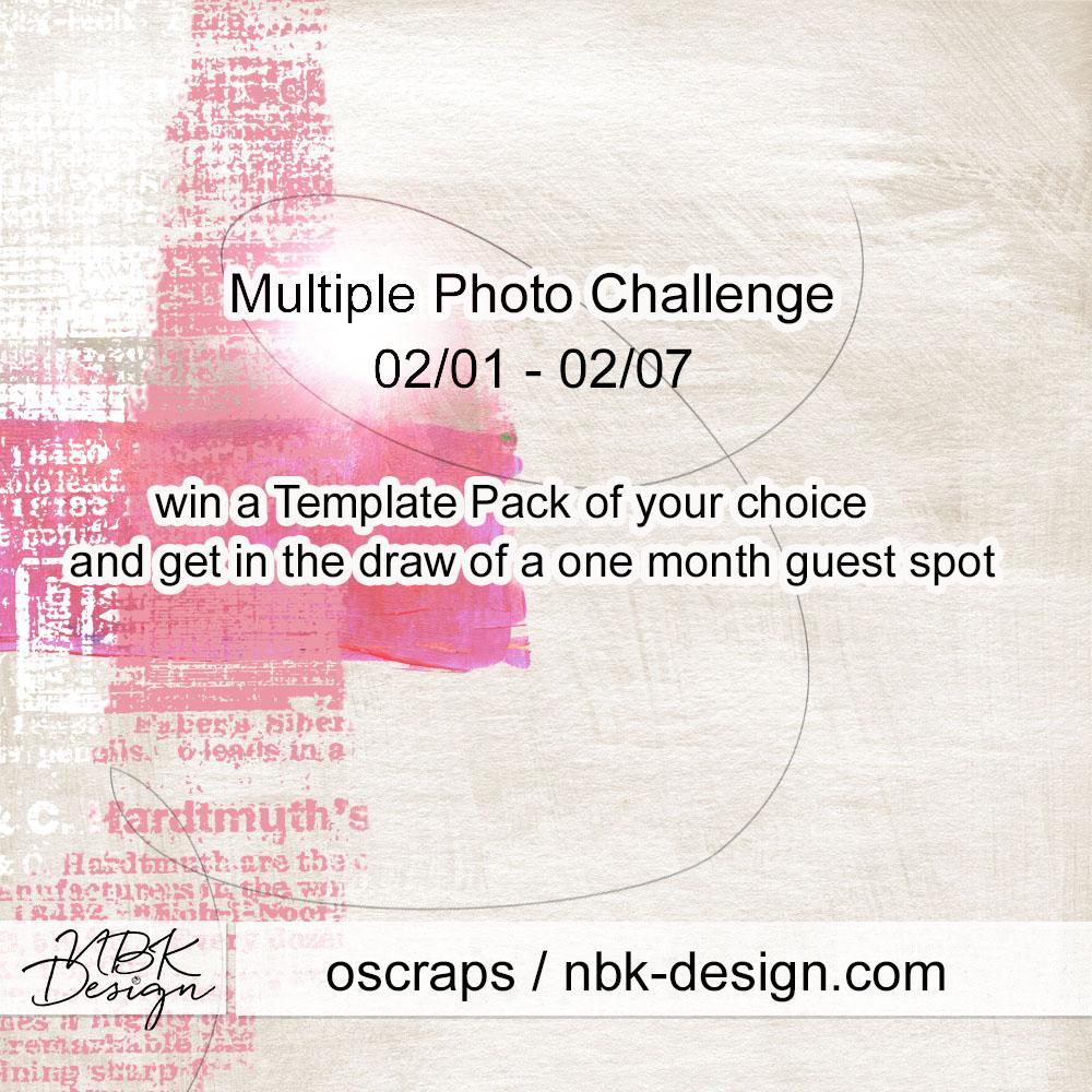 Multiple photo challenge at oscraps