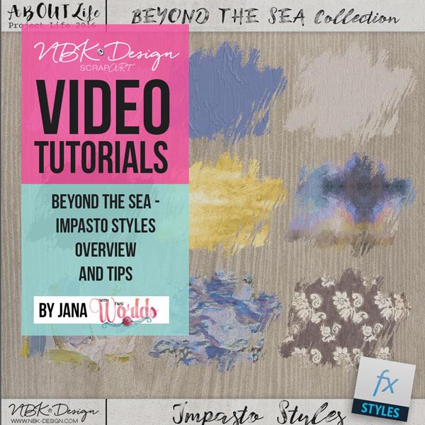 Beyond the Sea Impasto Style Video Tutorial