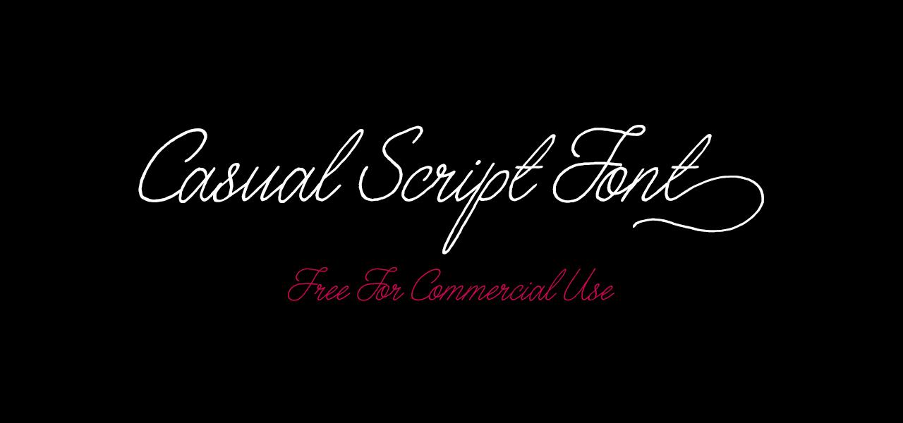 Free Casual Script Font – 160 Stylistic Alternatives!