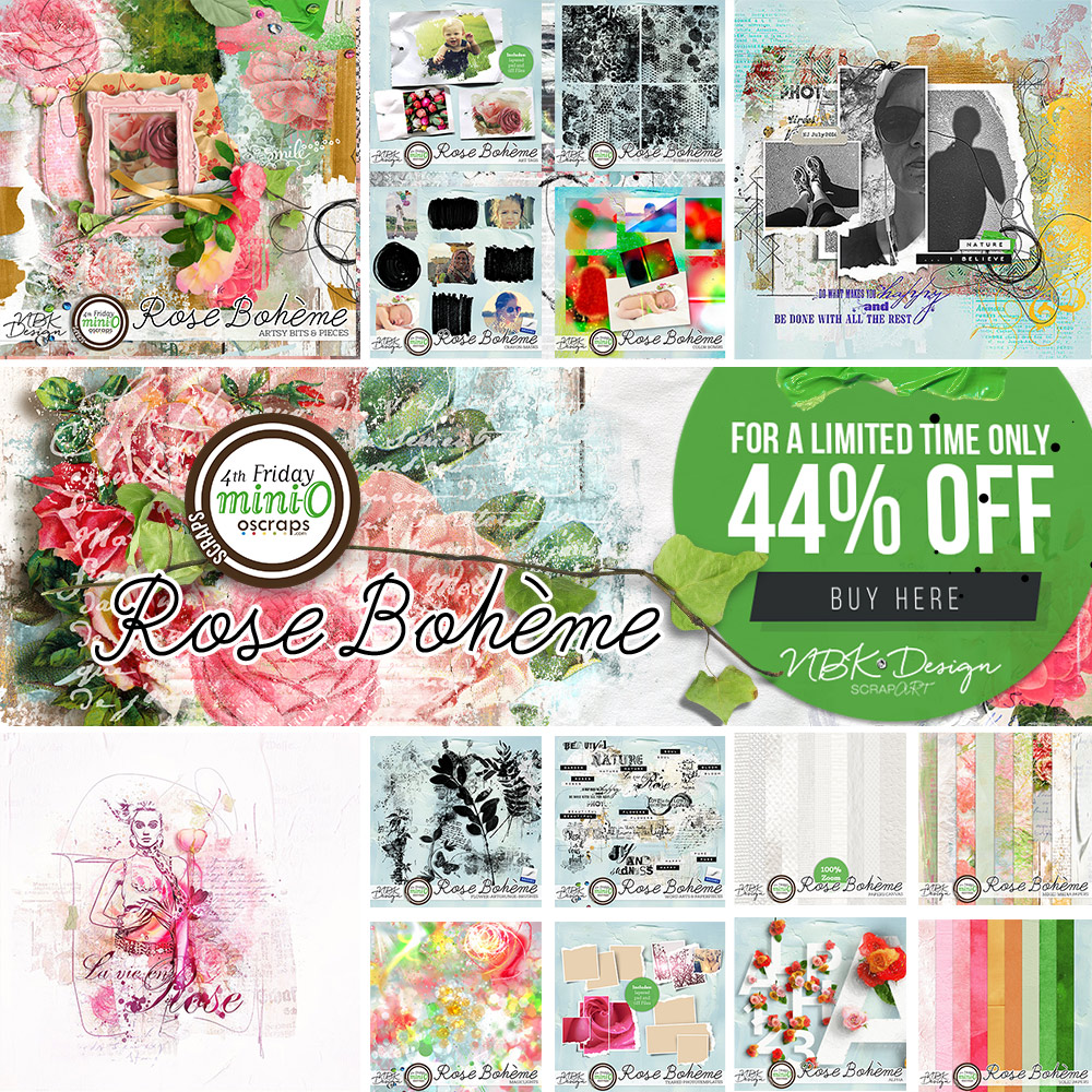 New MiniO Collection Rose Bohème – save 44% only for 4 days