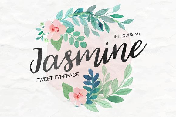 Jasmine ~ FEEE Script Font