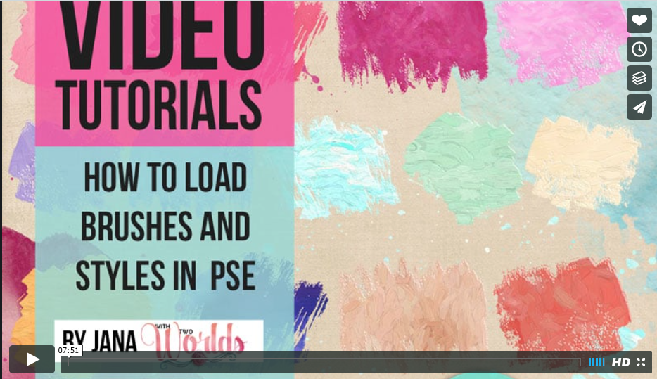 VIDEO Tutorial: How to load brushes and styles in PSD