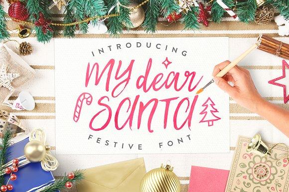 My Dear Santa Magical Font + BONUS