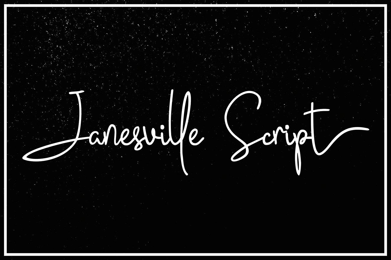 Janesville Script FREE this week
