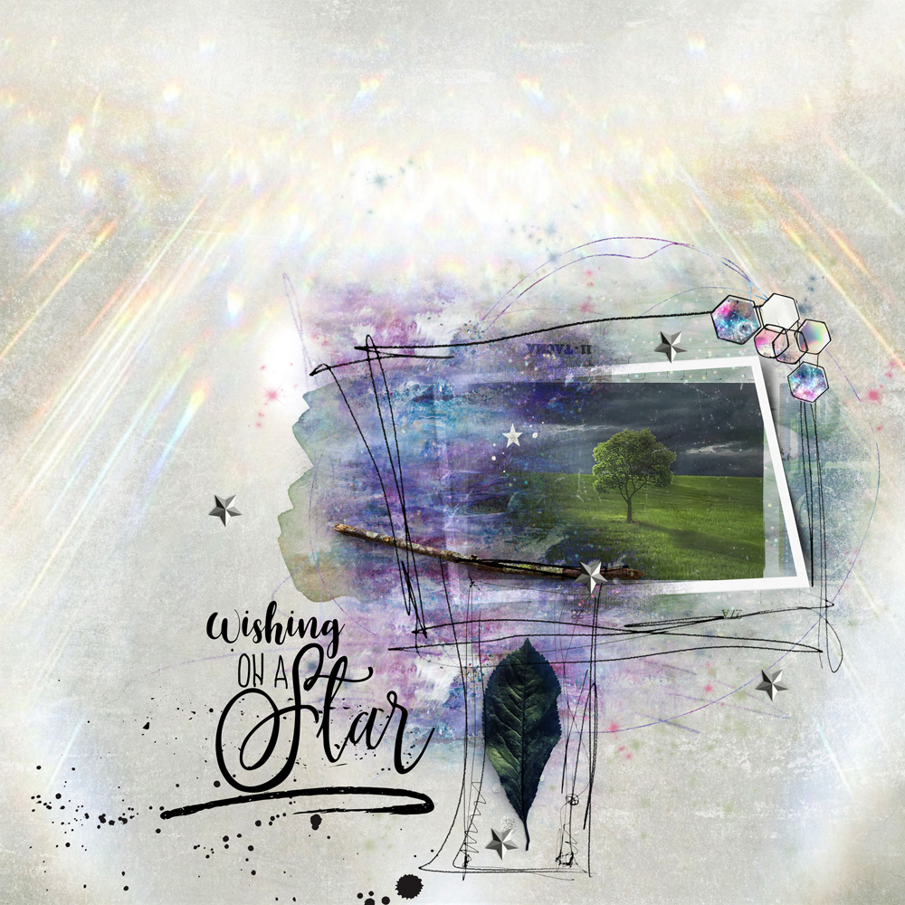 Layout Inspiration by Danesa using Space Night
