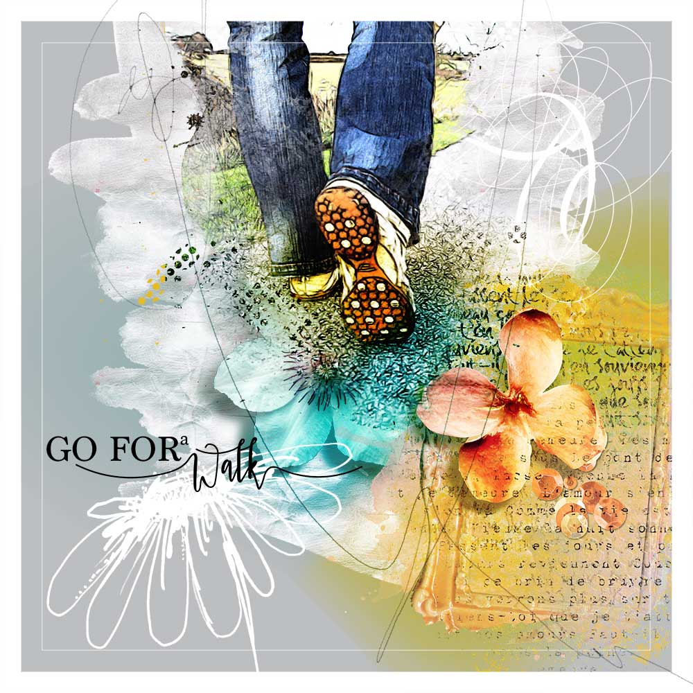 Layout Inspiration by Trish using Art & Nature Template