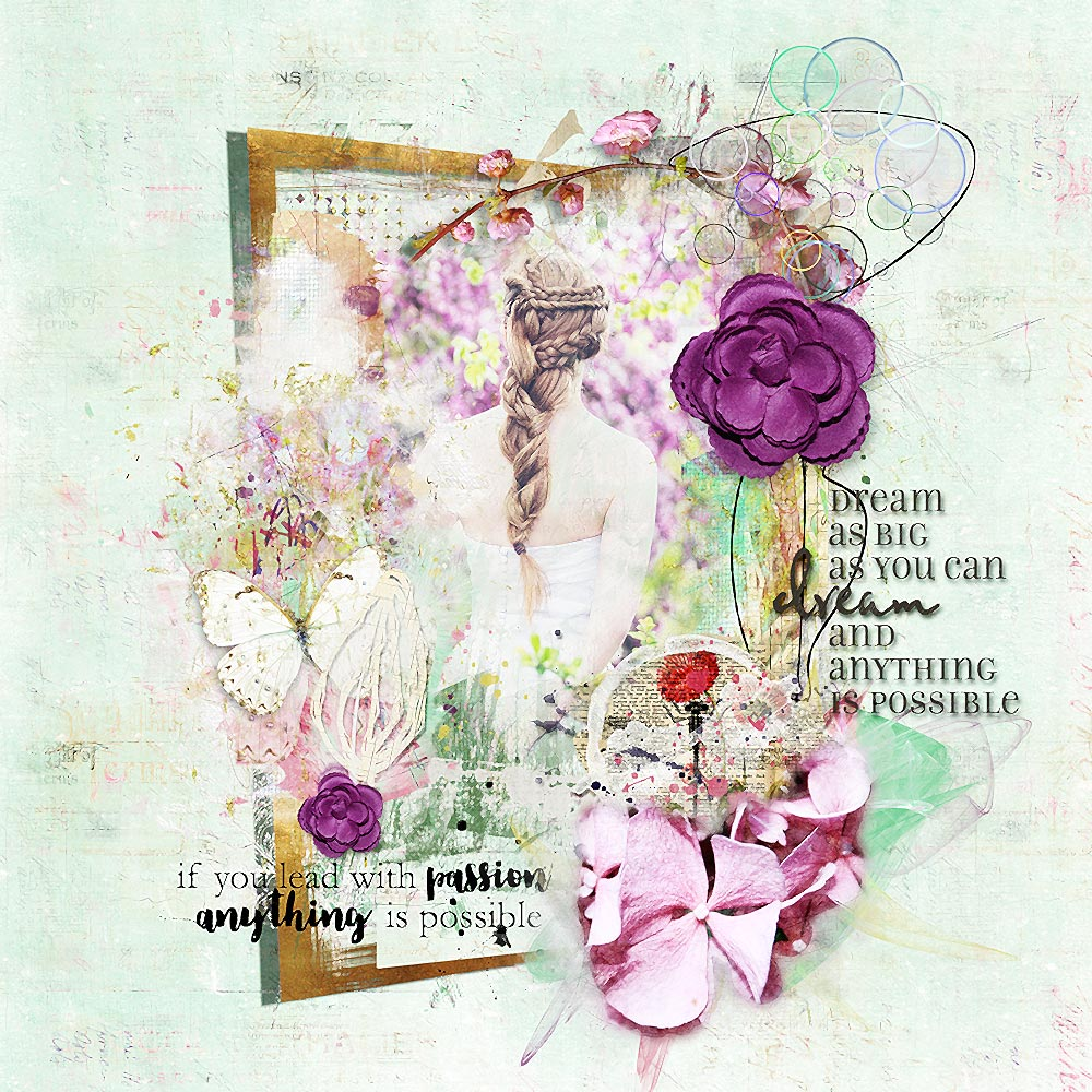 """Layout Inspiration """" Anything is possible  """" from Heike/LiMa Inspirations"""