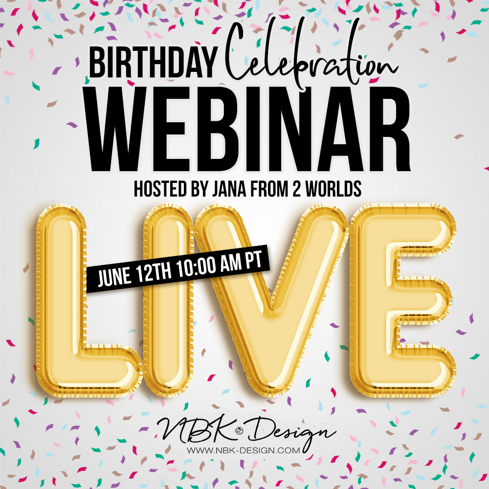 We are going to have a Live Webinar!