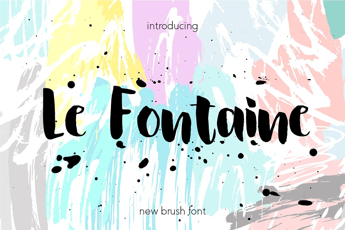 Le Fontaine Brush Font . Free for one Week