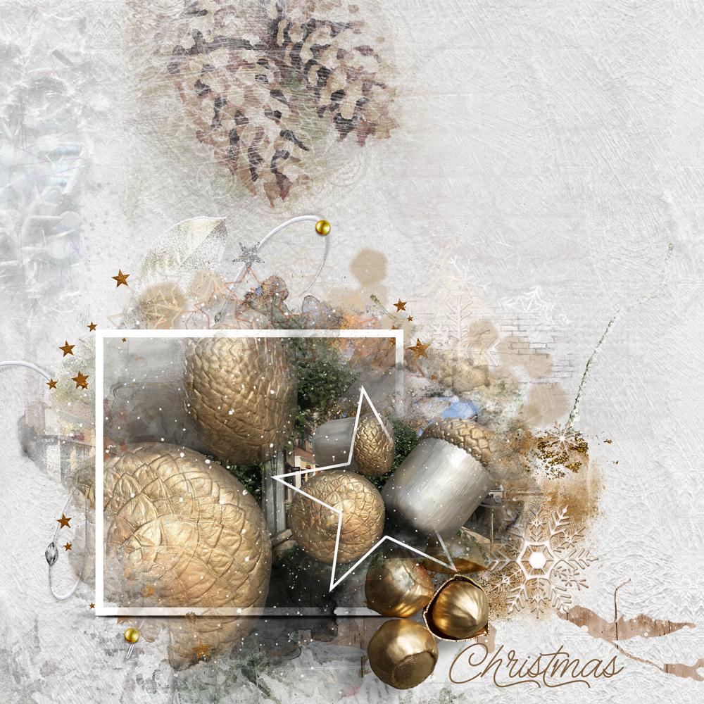 White Christmas Layout Inspiration by Danesa
