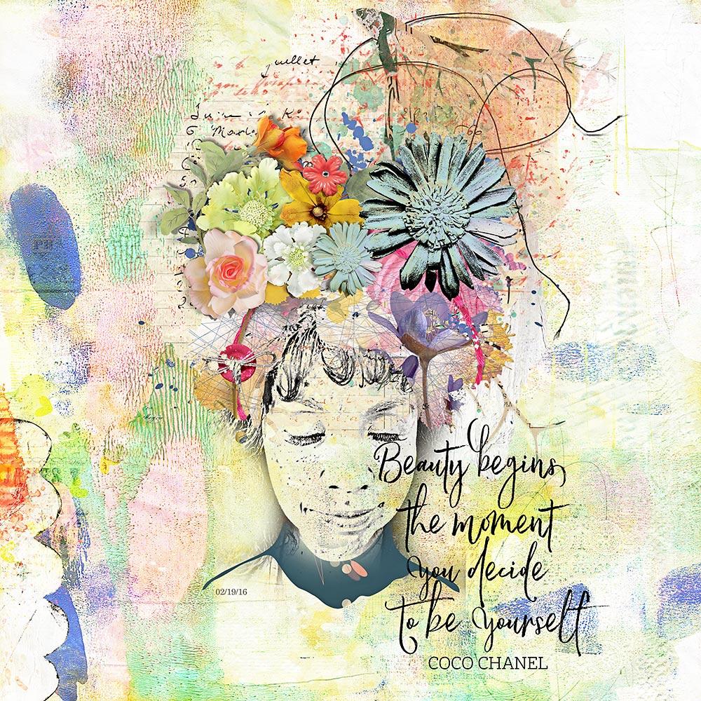 July template Challenge  – Inspiration by Flor (aka twinsmomflor)