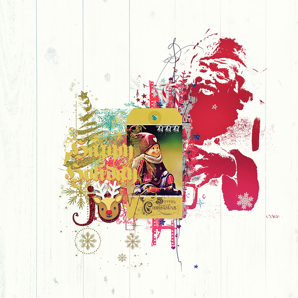 Layout inspiration for Delights of December by Marianne