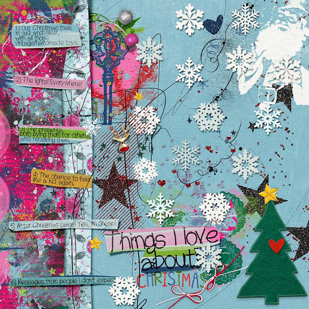 Layout inspiration with Delights of December