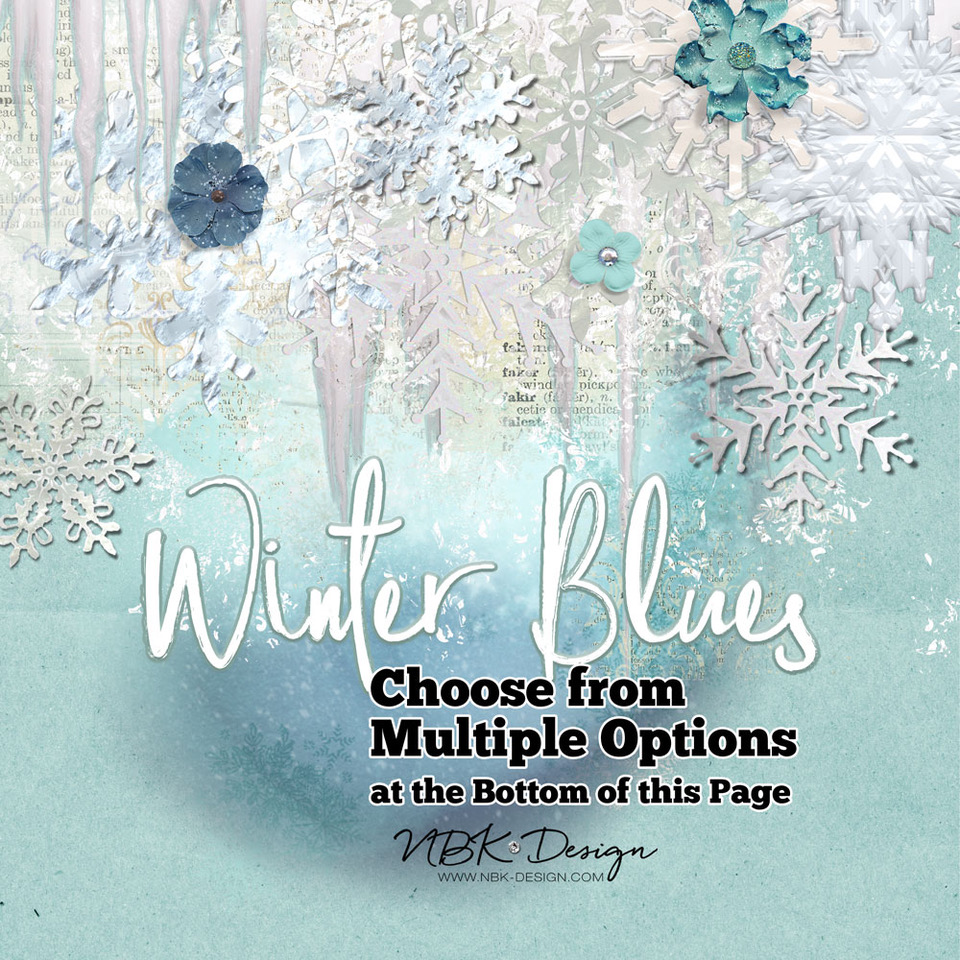 Winter Blues – re-released @ my Lilypad Shop – 50% for only a couple of hours