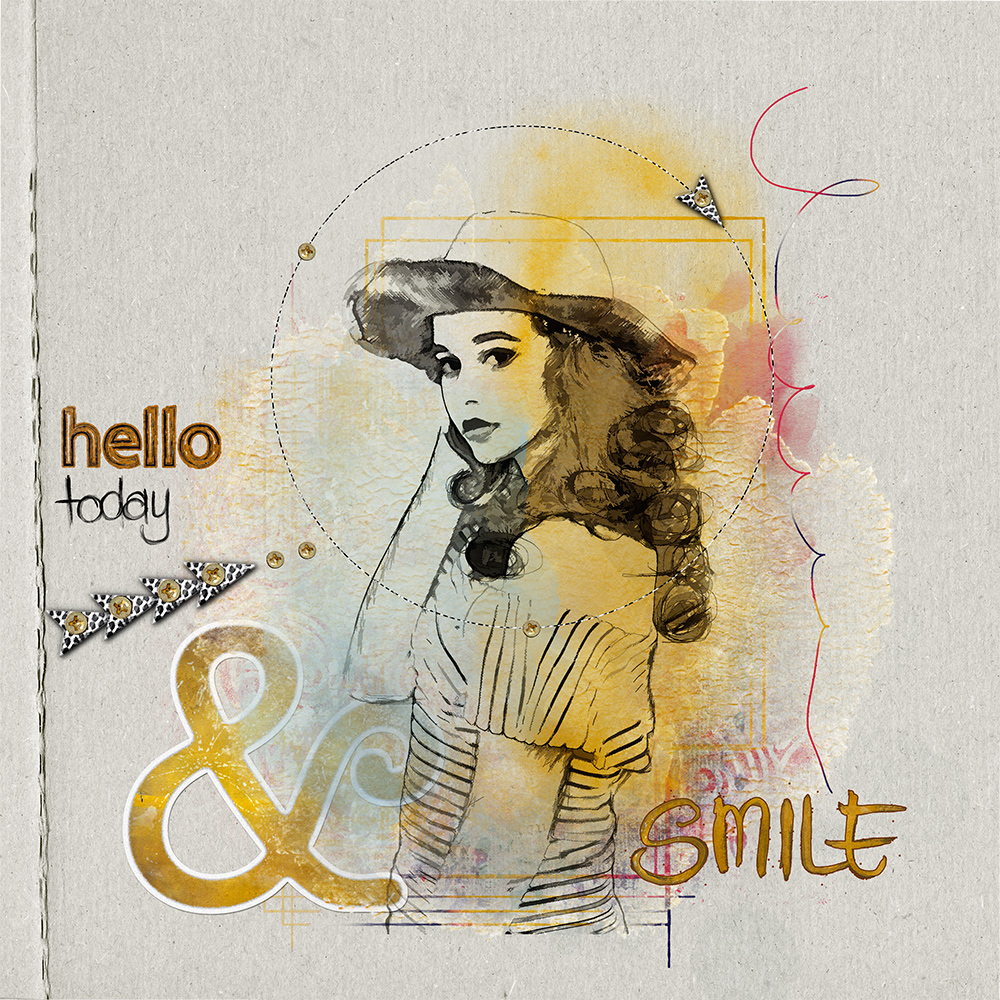 Layout Inspiration with SAY HELLO by CLIN D'OEIL