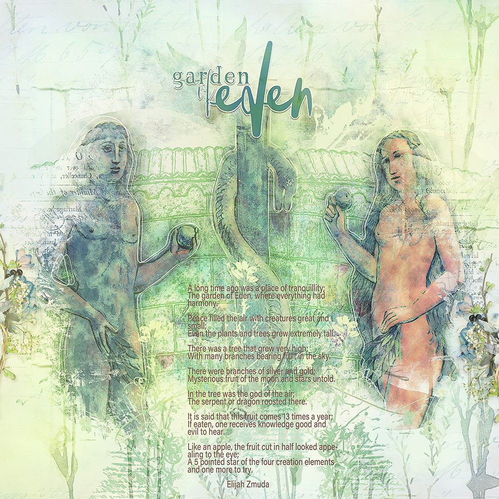 Layout inspiration for Garden of Eden by Marianne