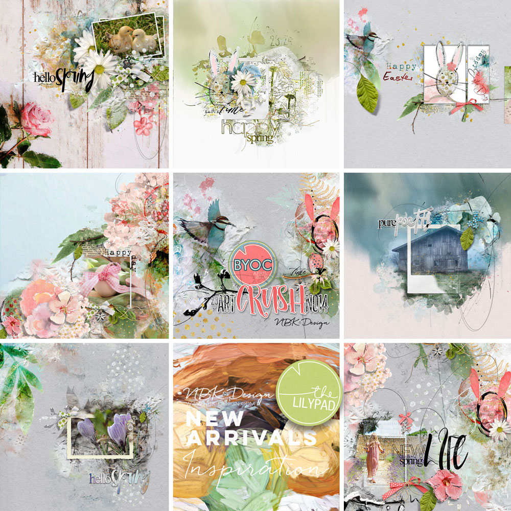 Some CT Layouts with artCrush No14