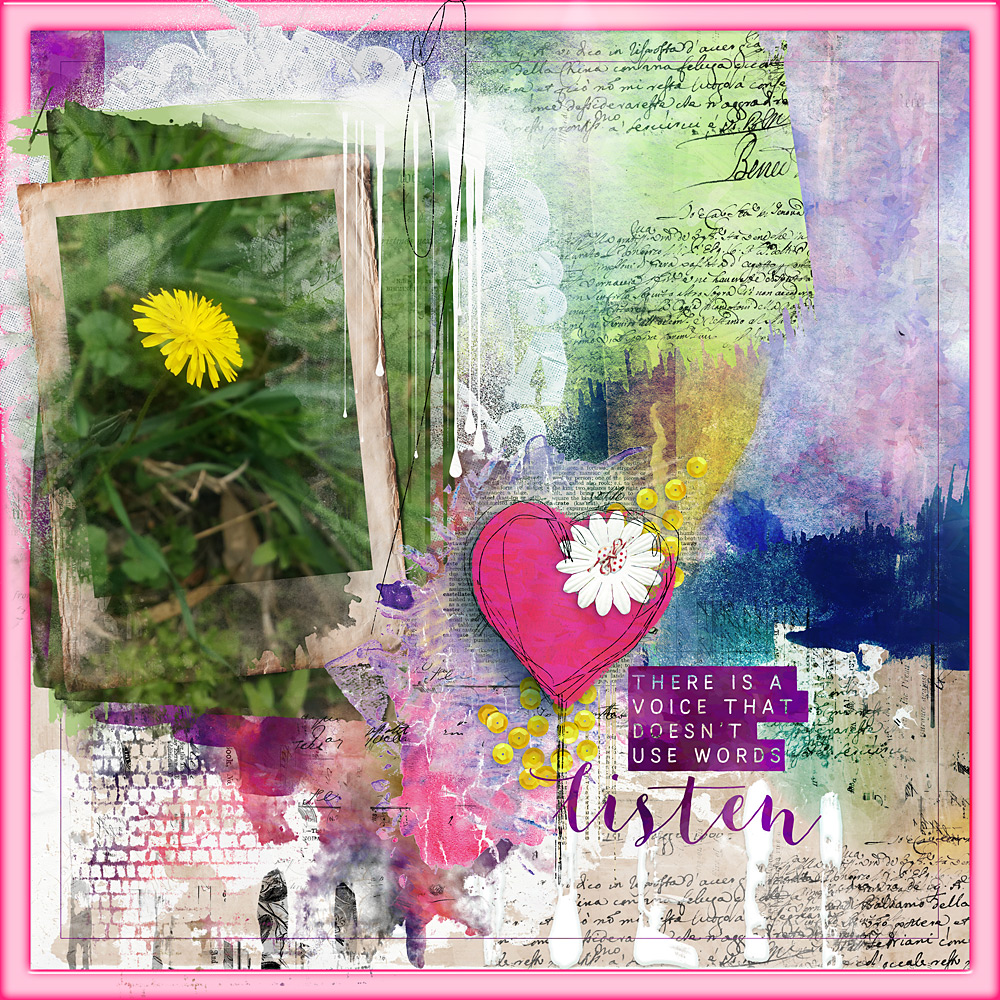 Intuitive – Layout inspiration by Cindy