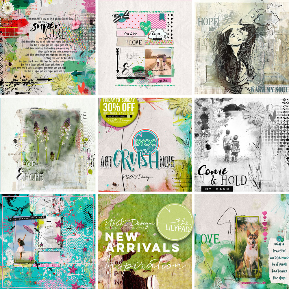 Some CT Layouts with artCrush No15
