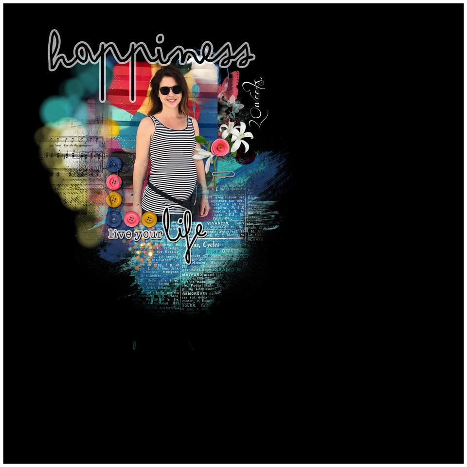 Layout inspiration, by Danesa, using Happy Life