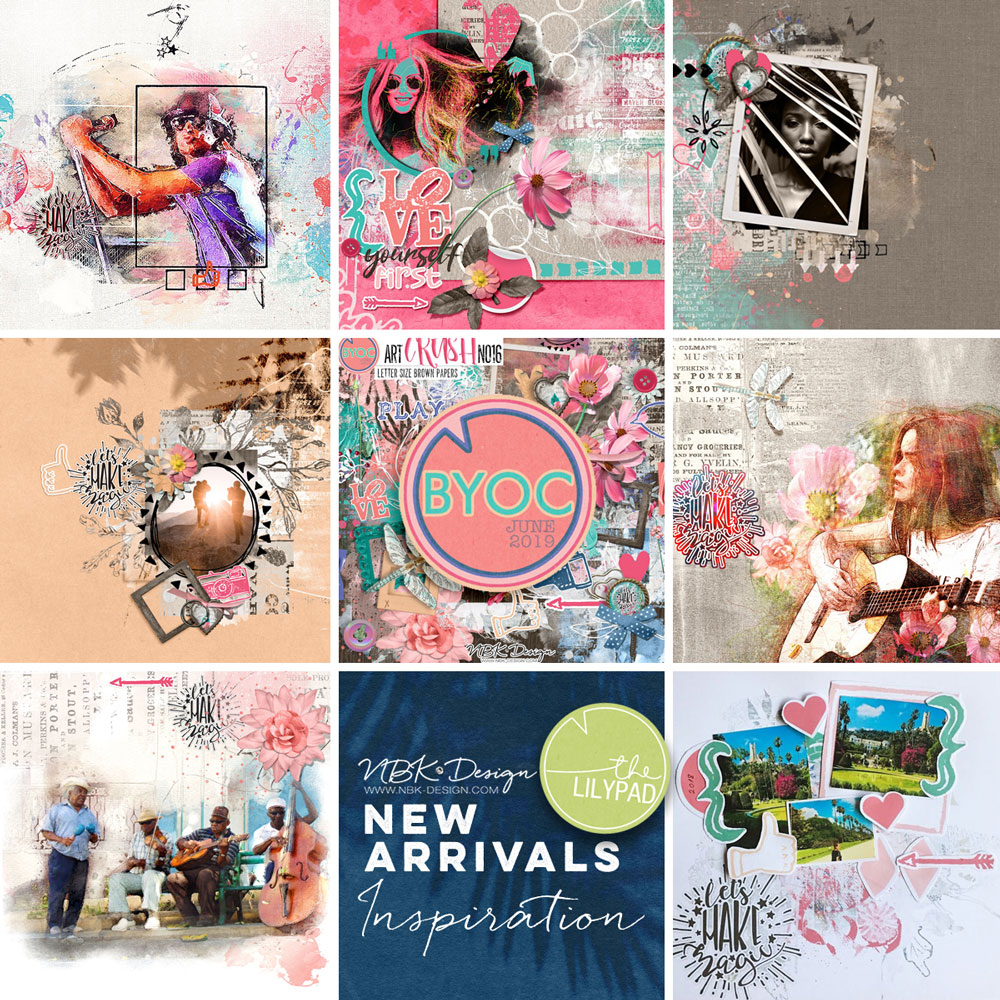 Some CT Layouts with artCrush No16