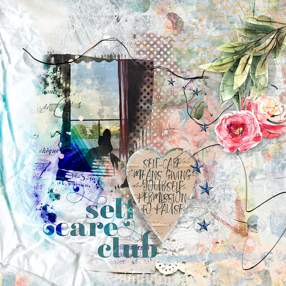 Selfcare – Layout inspiration by Cindy