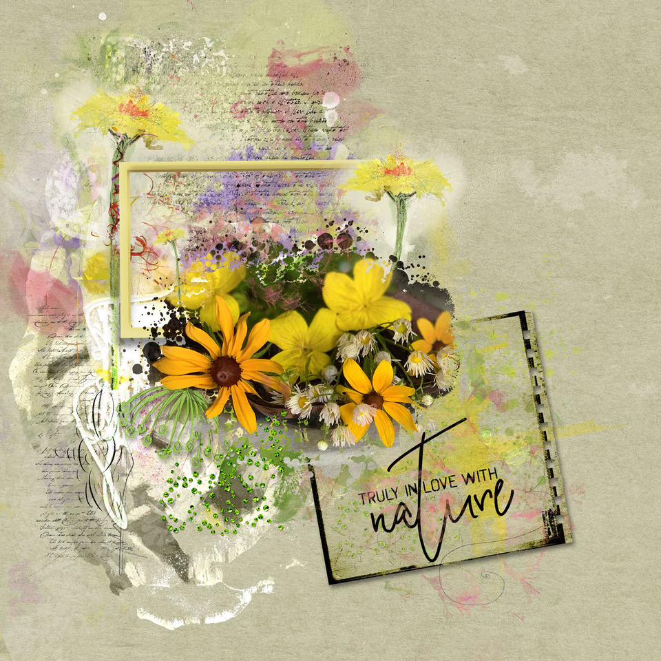 Layout inspiration, by Danesa, using Wildflowers