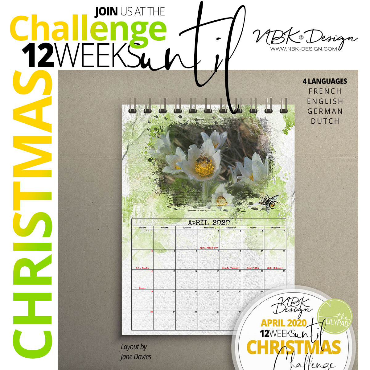 Join the APRIL – 12 weeks until Christmas Challenge @ the Lilypad