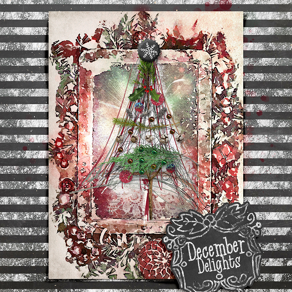Chalky Christmas – Layout inspiration by Cindy
