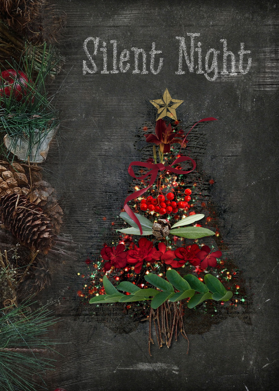 Layout Inspiration by Danesa using Chalky Christmas