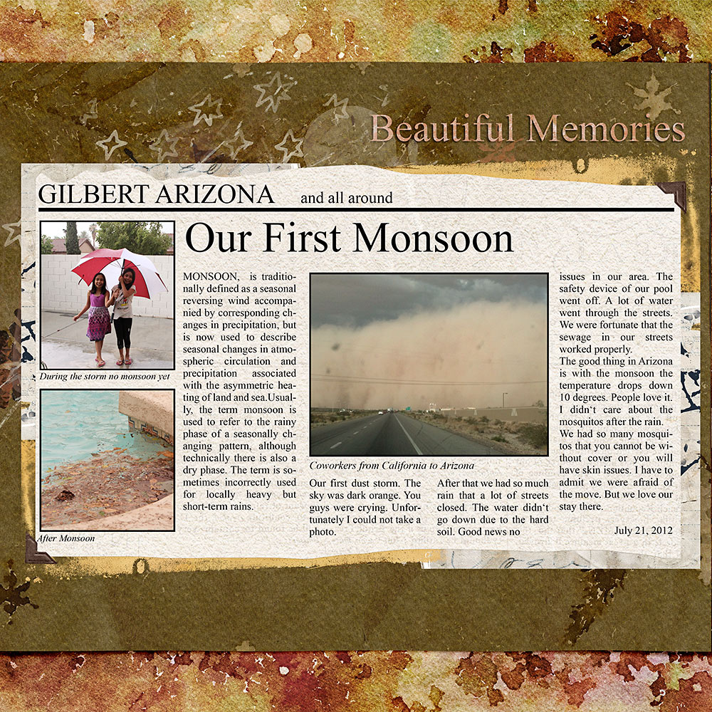 Newsletter Clipping Newspaper  – Inspiration by Flor (aka twinsmomflor)