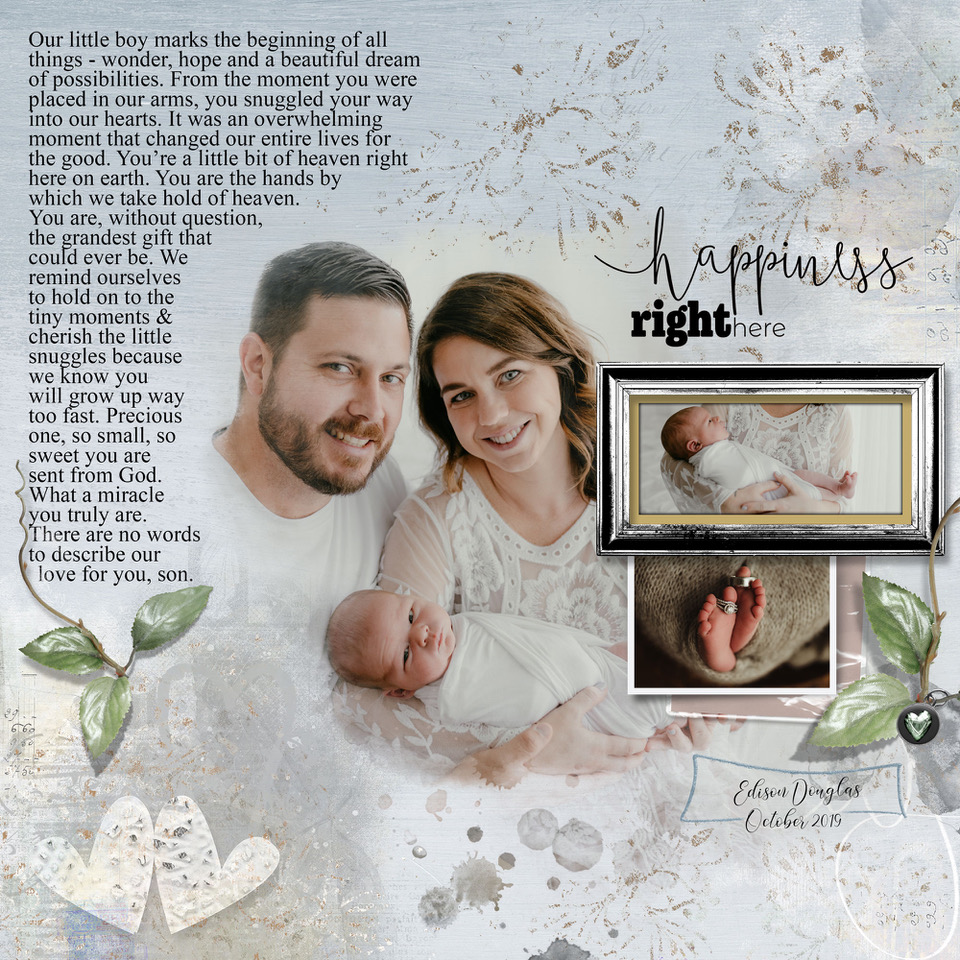 Layout inspiration by Danesa, using Poppin' Blossoms by NBK-Design