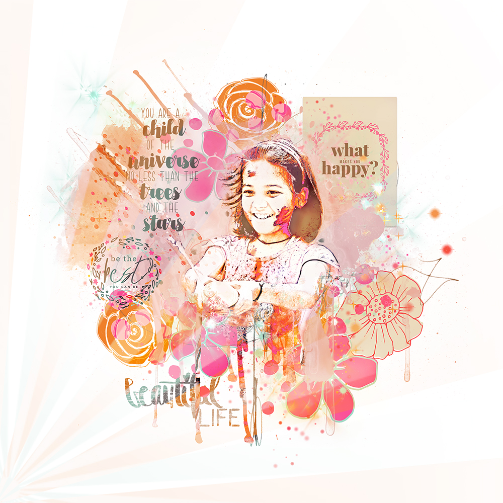 Layout inspiration for artTherapy No1 + cards by NBK-Design by Marianne