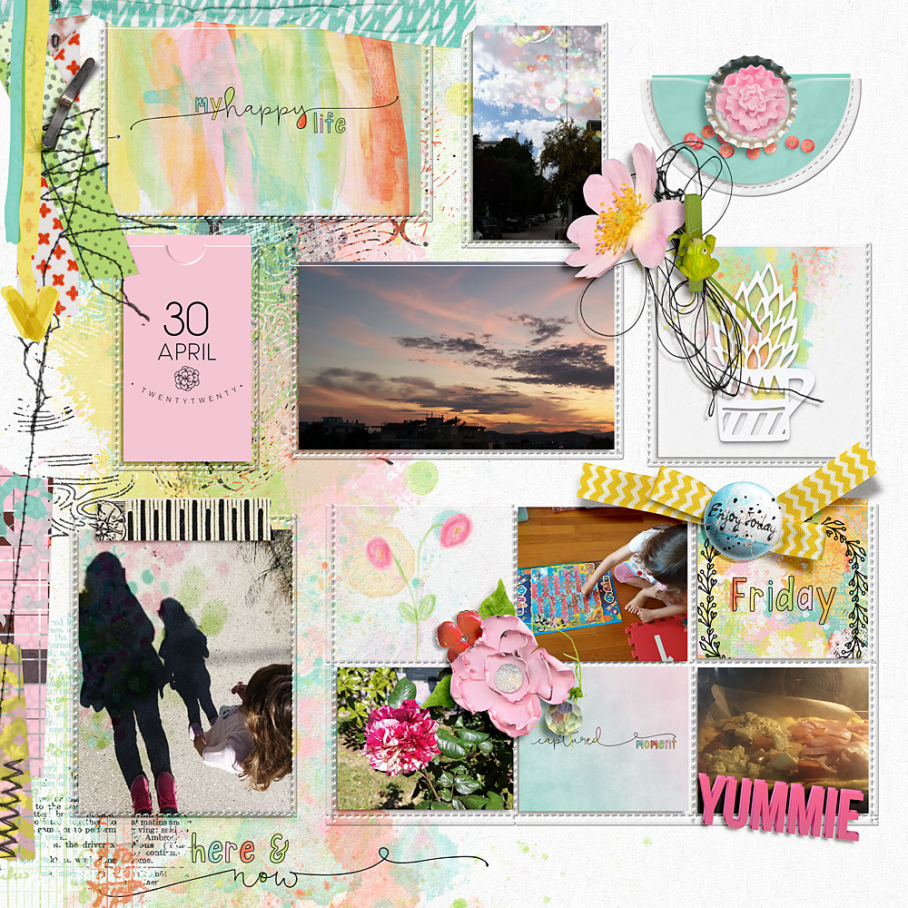 Easy Peasy {Page Pockets No1} – Inspiration by Cindy