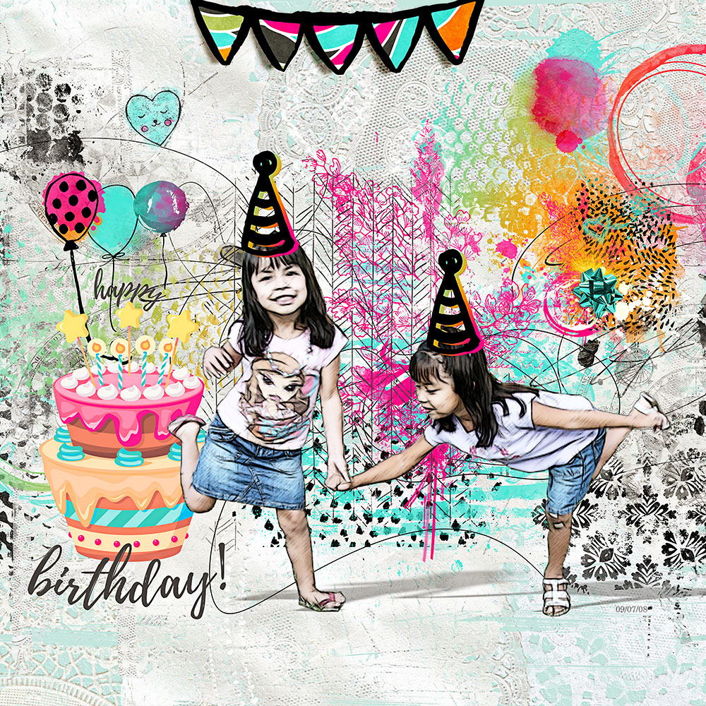Happy Birthday – Inspiration by Flor (aka twinsmomflor)