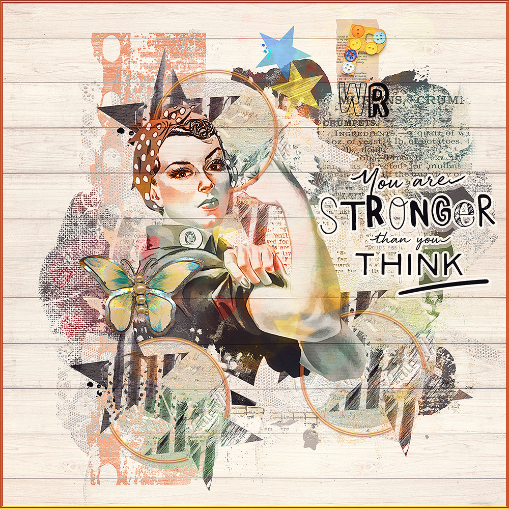 Layout inspiration for the This & That Collection by Marianne