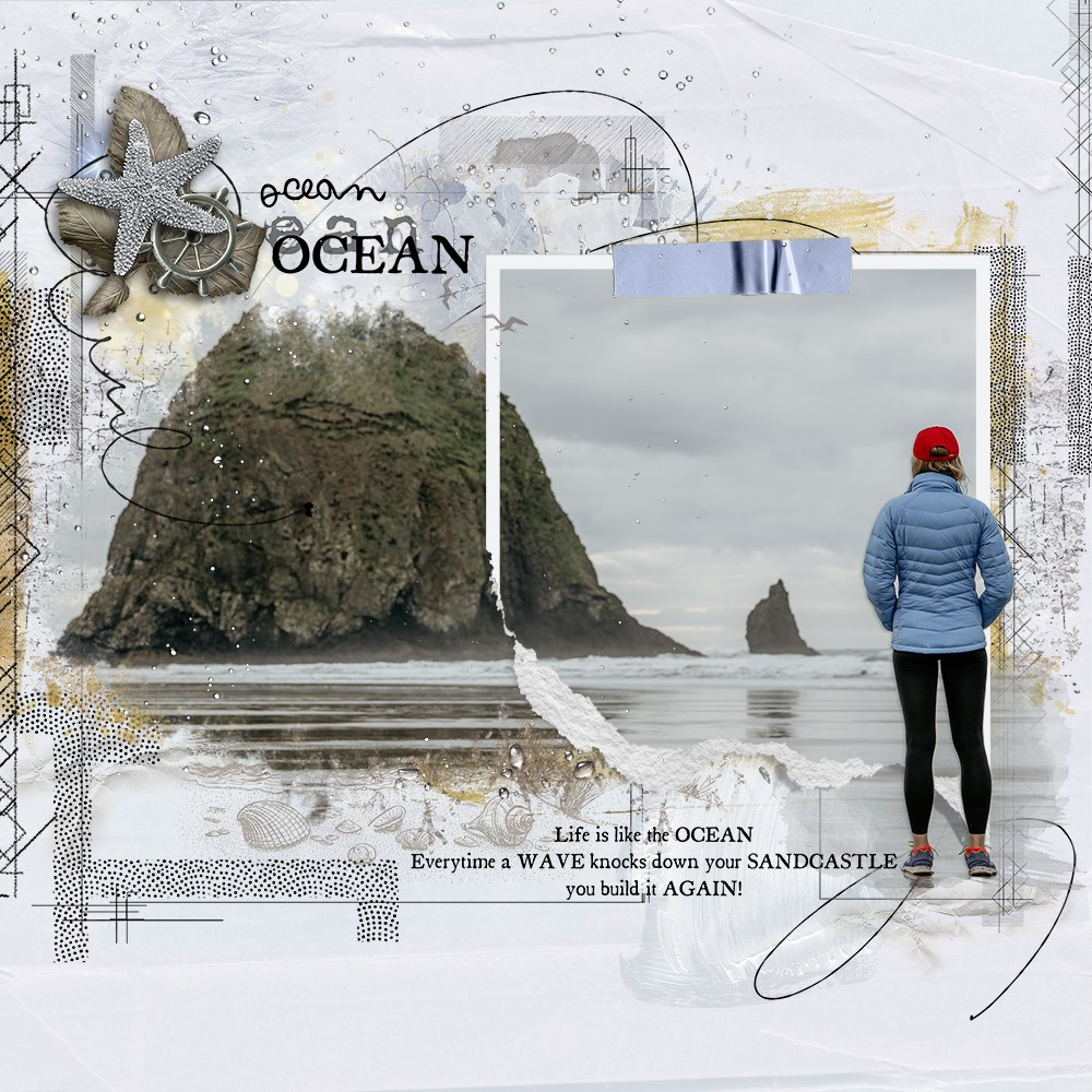 BEYOND THE SEA COLLECTION INSPIRATION LAYOUT BY ANA