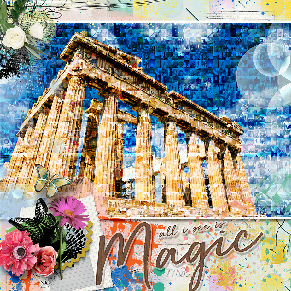 Photo mosaic – Challenge inspiration by Cindy