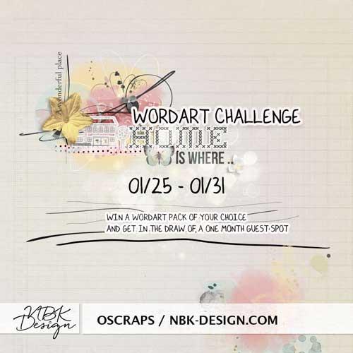 Wordart challenge at oscraps