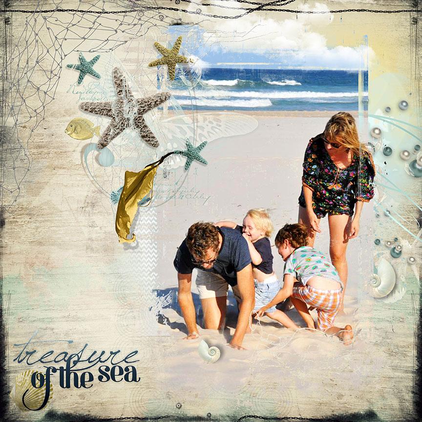 Inspiration by Trish Dixon using Seashore Dreams