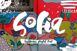 Sofia – Handdrawn Playful Font ~ Script Fonts on Creative Market