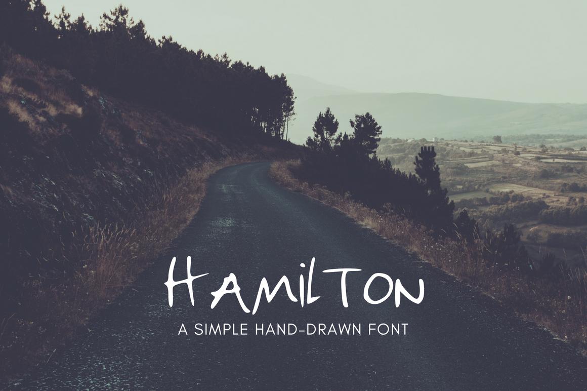 Hamilton | Hand Drawn Uppercase FREE Font