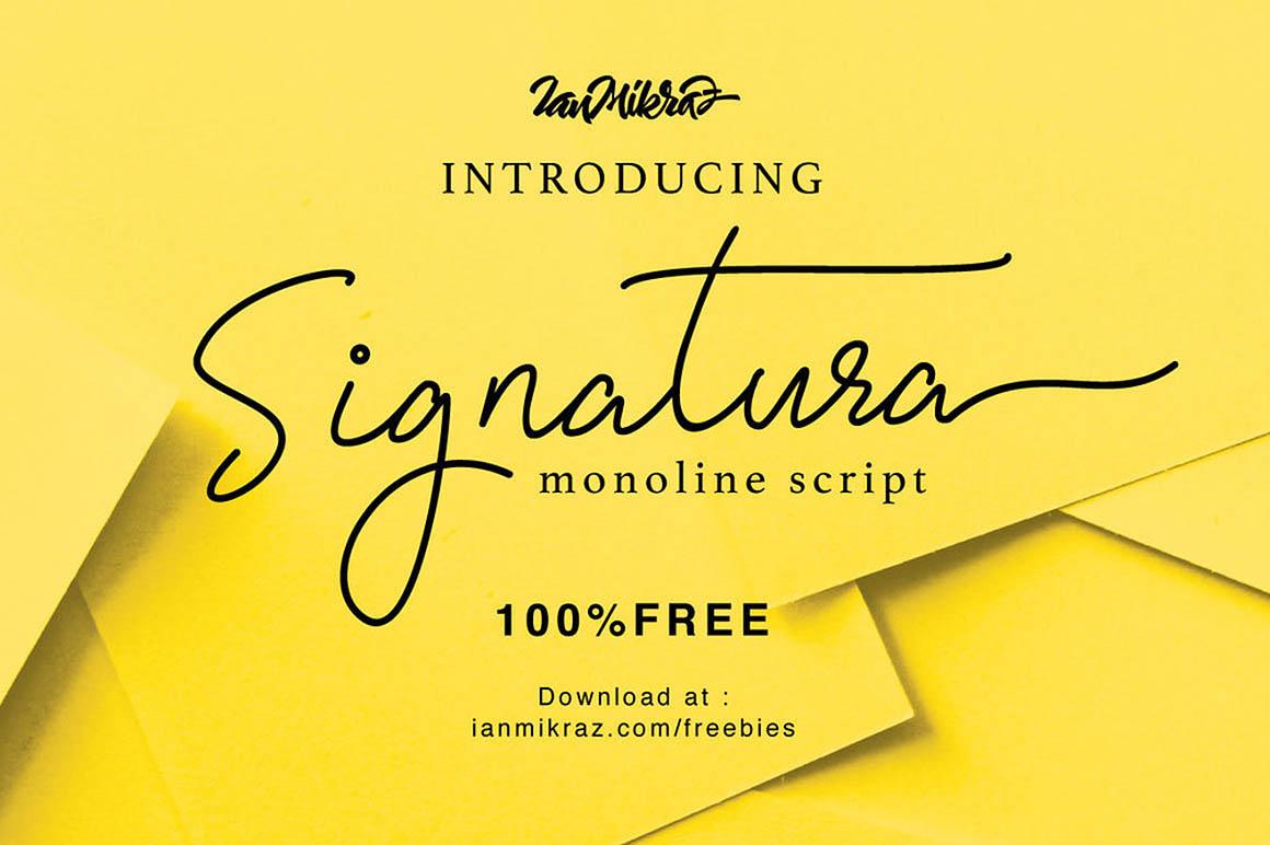 Signatura Monoline – Free Font