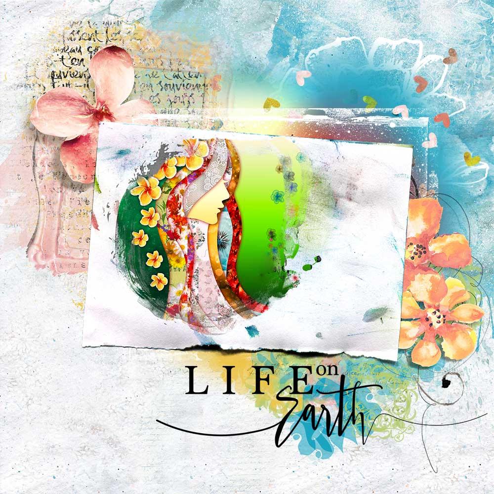 Layout Inspiration by Trish using Art & Nature