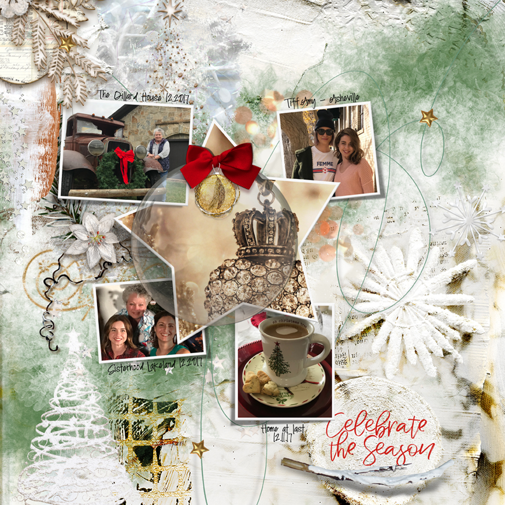 White Christmas Inspiration Layout by Danesa