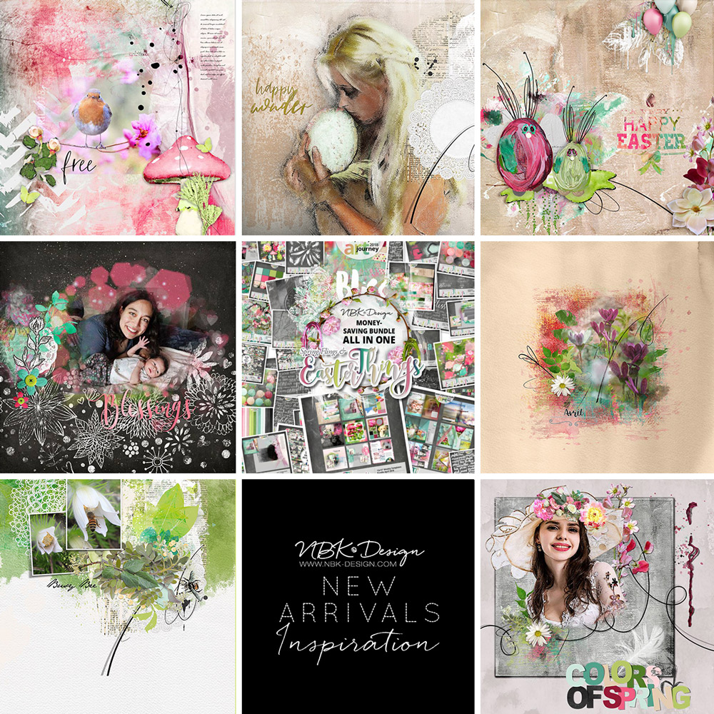 Some CT Layouts with Spring Flings and Easter Things