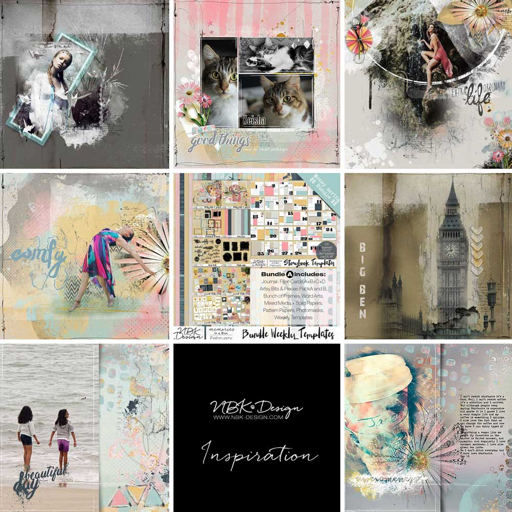 Some CT Layouts with the February 2015 Collection