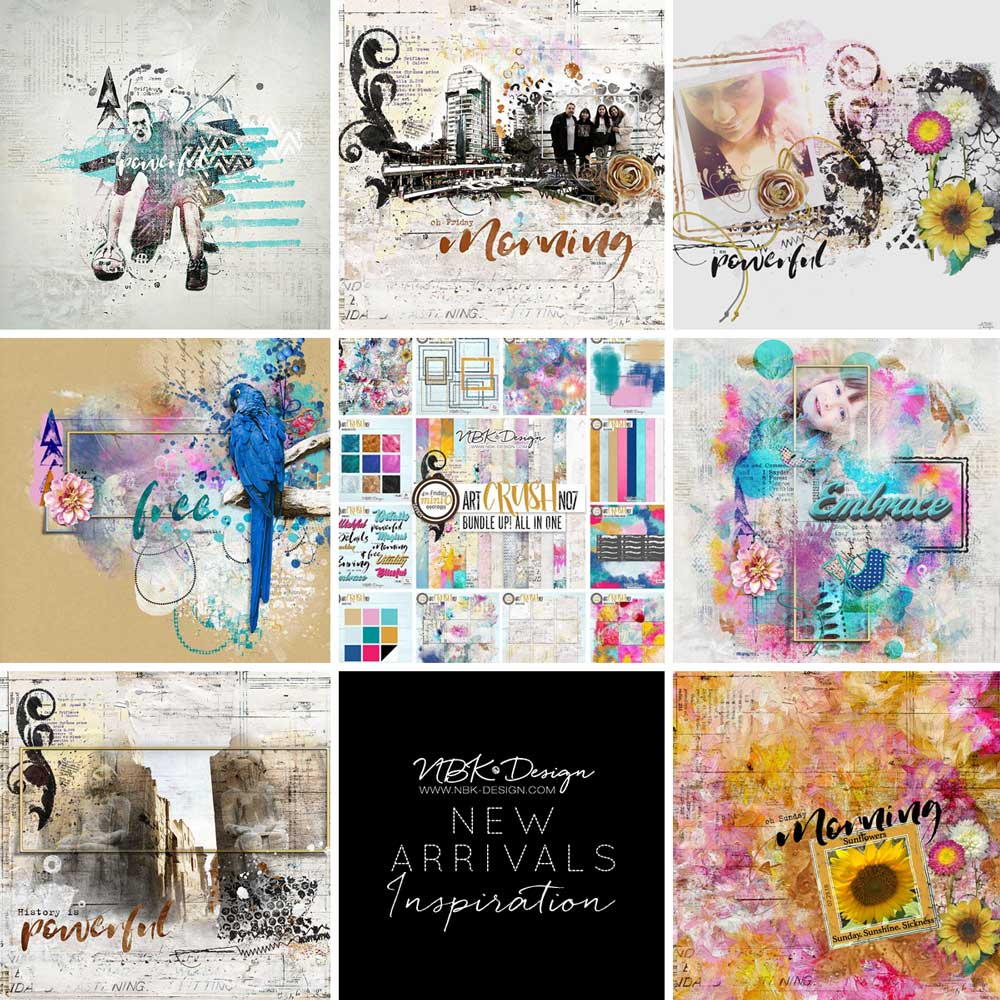 Some CT Layouts with artCrush No7