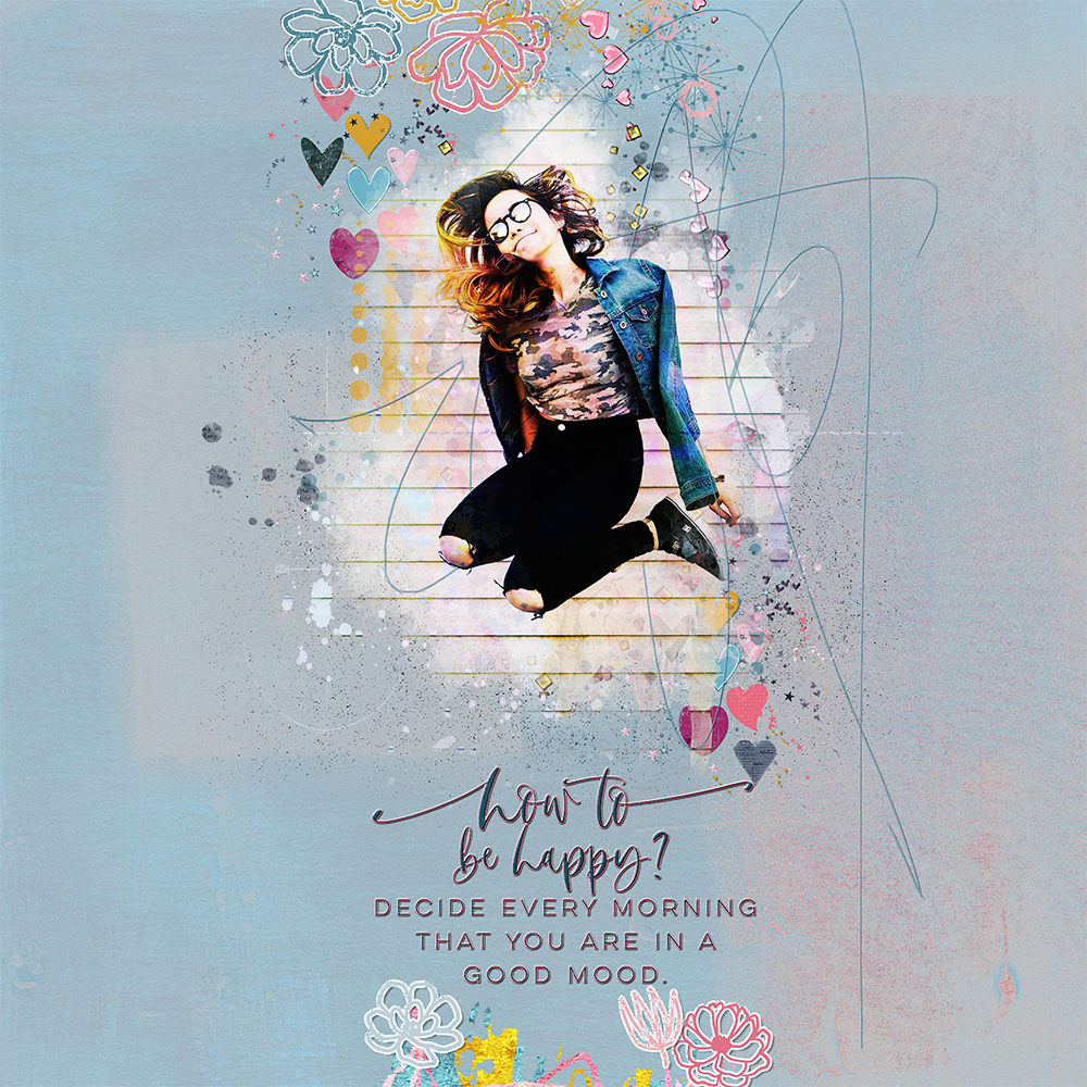 Layout Inspiration with ARTCRUSH NO11 Collection by CLIN D'OEIL